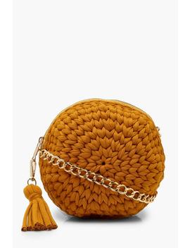 Handmade Woven Round Bag by Boohoo