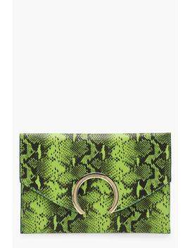 Large Ring Snake Clutch by Boohoo