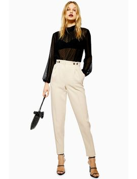 Petite Button Peg Trousers by Topshop