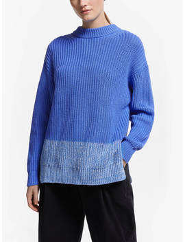 Kin Block Hem Jumper, Blue by Kin
