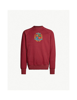 Logo Embroidered Cotton Jersey Sweatshirt by Aime Leon Dore