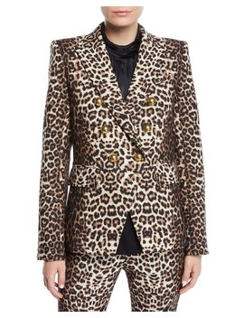 Miller Double Breasted Leopard Print Jacket by Neiman Marcus