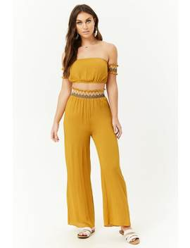 Embroidered Wide Leg Pants by Forever 21