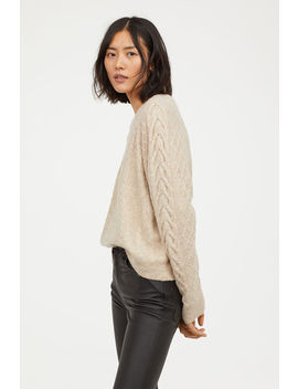Knitted Cable Sweater by H&M