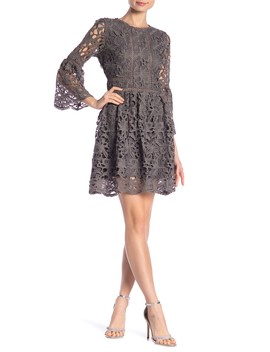 Bell Sleeve Lace Dress by J.O.A.