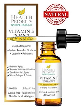100 Percents All Natural & Organic Vitamin E Oil For Your Face & Skin   15,000/30,000 Iu   Reduces Wrinkles, Lightens Dark Spots, Heals Stretch Marks & Surgical Scars. Best Treatment For Hair, Nails, Lips by Health Priority Natural Products