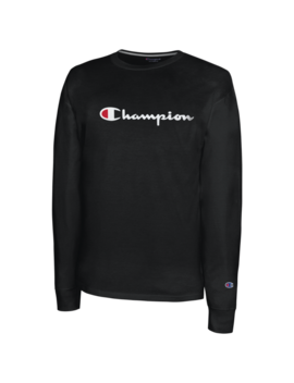 Champion Classic Cotton L/S T Shirt by Champion