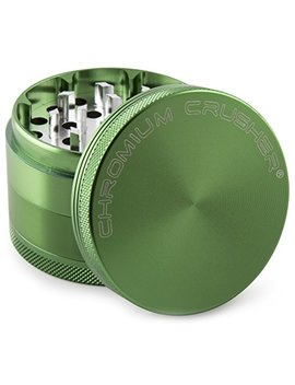 Chromium Crusher 1.6 Inch 4 Piece Tobacco Spice Herb Grinder   Green by Chromium Crusher