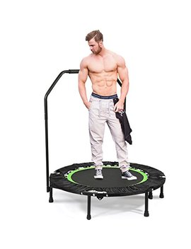 "Ancheer Foldable 40"" Mini Trampoline Rebounder, Max Load 300lbs Rebounder Trampoline Exercise Trampoline With Adjustable Handrail For Indoor/Garden/Workout Cardio by Ancheer"
