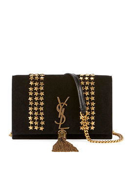 Kate Monogram Ysl Small Star Studded Suede Chain Crossbody Bag by Saint Laurent