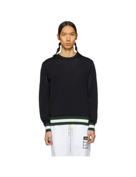Navy Knit Sweater by Moncler