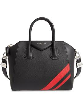 Small Antigona Striped Leather Satchel by Givenchy
