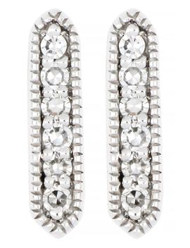 Carrière Diamond Hexagon Bar Earrings by Carriere Jewelry