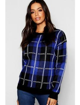 Check Jacquard Jumper by Boohoo