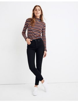 "9"" High Rise Skinny Jeans In Black Frost: Thermolite® Edition by Madewell"