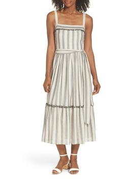 Painted Stripe Flounce Sundress by Maggy London