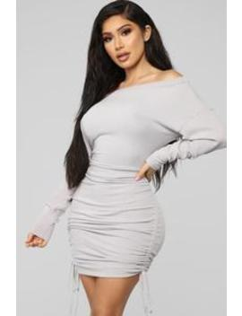 Draw Me In Sweater Mini Dress   Lilac by Fashion Nova