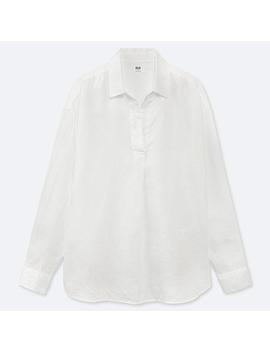 Damen Hemd Aus Premium Leinen Mit Skipper Kragen by Uniqlo
