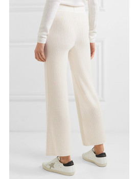 Tilda Ribbed Wool And Cashmere Blend Straight Leg Pants by Markus Lupfer