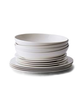 Symons 12 Piece Bone China Dinnerware Set by The White Company