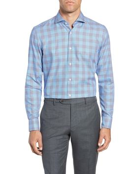 Jason Slim Fit Plaid Dress Shirt by Boss