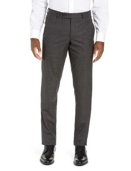 Jerome Flat Front Solid Wool Trousers by Ted Baker London