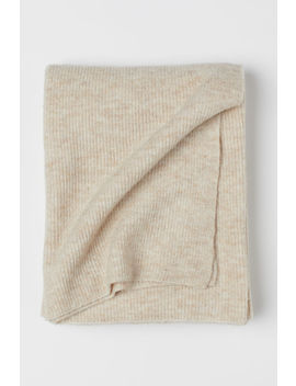 Ribbed Wool Blend Throw by H&M
