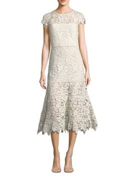 Caledonia Floral Lace Midi Dress by Joie