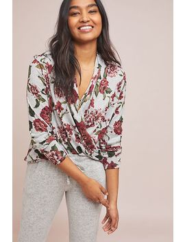 Brushed Fleece Floral Top by Pleione