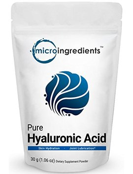 Pure Hyaluronic Acid Powder, Making Anti Aging Serum, Supporting Internal Hydration & Joint Health, 30 Grams. Non Irradiated, Non Contaminated, Non Gmo And Vegan Friendly by Micro Ingredients