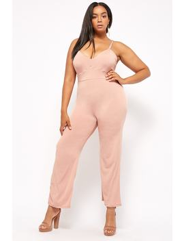 Plus Size Strappy Wide Leg Jumpsuit by Forever 21