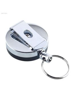 Extendable Metal Wire 60cm Retractable Key Chain Ring Clip Keyring Gift 6 E02 by Unbranded