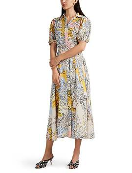 Map Print Crepe Shirtdress by Derek Lam 10 Crosby