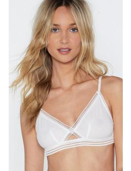 Take A Little Piece Of My Lace Bralette by Nasty Gal