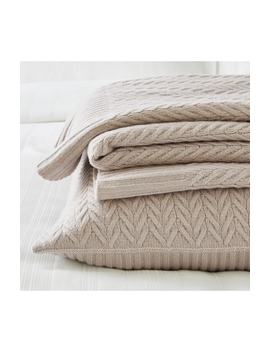 Fairfax Knitted Throw by The White Company