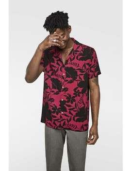 Two  Tone Floral Print Shirt Printed Shirts Man Sale by Zara