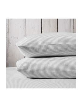 Harrington Flannel Pillowcase by The White Company