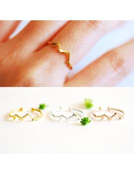 Mountain Ring   Adjustable Ring   Hiking Ring   Adjustable Ring   Dainty Ring   Travel   Nature Ring   Outdoor   Mountains Are Calling Ring by Etsy