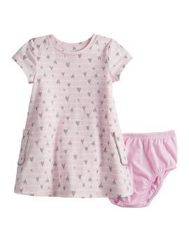 Baby Girl Jumping Beans® Short Sleeve Pocket Dress by Baby Girl Jumping Beans