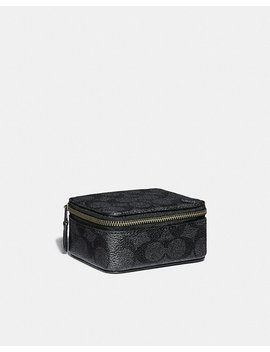 Small Travel Case In Signature Canvas by Coach