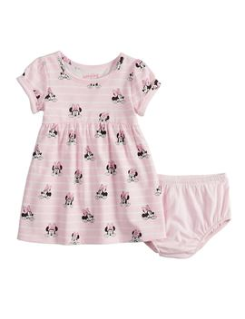 Disney's Minnie Mouse Baby Girl Print Babydoll Dress By Jumping Beans® by Disney's Minnie Mouse Baby Girl Print Babydoll Dress By Jumping Beans