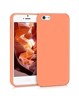 Kwmobile Tpu Silicone Case For Apple I Phone Se / 5 / 5 S   Soft Flexible Shock Absorbent Protective Phone Cover   Coral Matte by Kwmobile