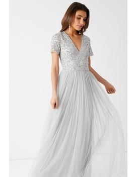 Maya Short Sleeve Sequin Maxi Dress by Next