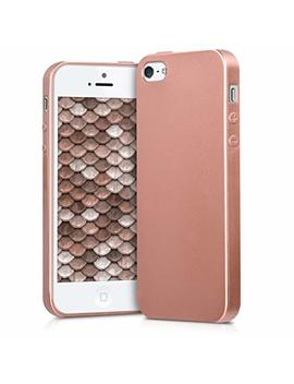 Kwmobile Tpu Silicone Case For Apple I Phone Se / 5 / 5 S   Soft Flexible Shock Absorbent Protective Phone Cover   Metallic Rose Gold by Kwmobile
