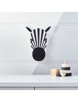 Zebra Animal Head Wall Decor by Crate&Barrel