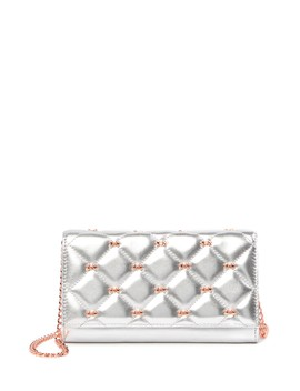 Cambre Leather Quilted Bow Matinee Drop In Chain Wallet by Ted Baker London