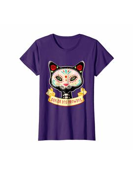 Dia De Los Muertos Cat Sugar Skull Halloween Costume T Shirt by Cool Halloween Costume T Shirts