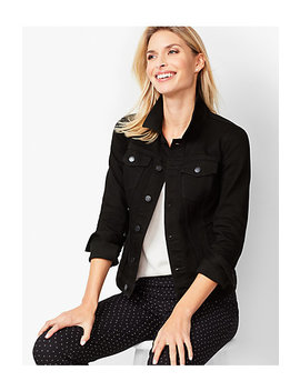 Classic Jean Jacket   Black Onyx Stretch by Talbots