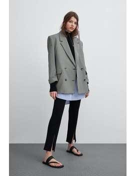 Check Blazer  New Intrf New Collection by Zara