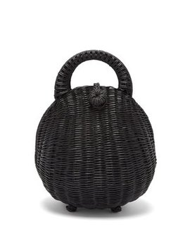 Millie Rattan Top Handle Basket Bag by Cult Gaia